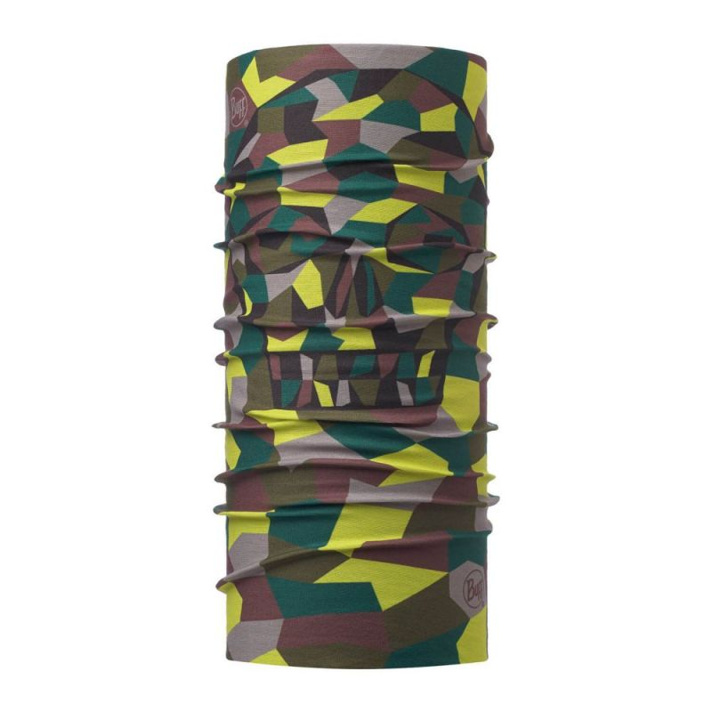 Купить Бандана Buff Original Junior Block Skull Khaki