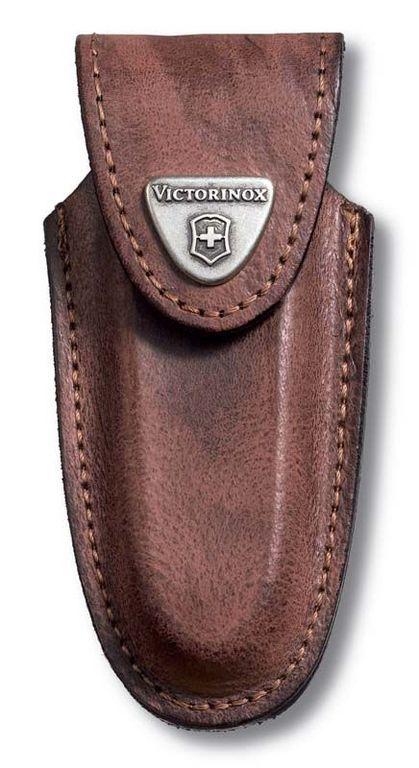 Чехол Victorinox из натуральной кожи Leather Belt Pouch коричневый
