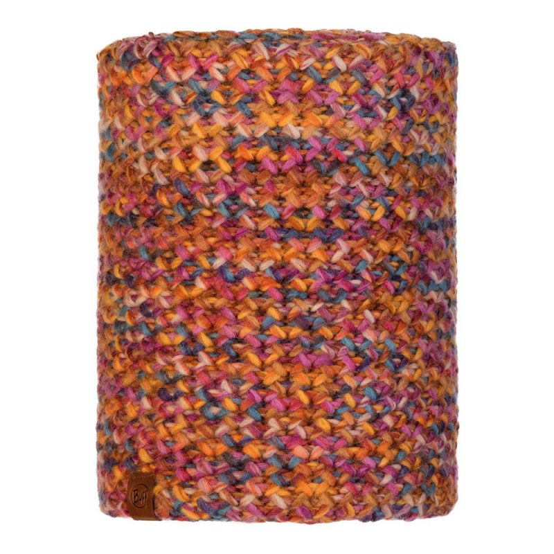 Шарф BUFF Buff Knitted&Polar Neckwarmer Margo разноцветный ONESIZE шарф buff buff cotton infinity wild pink stripes темно розовый one