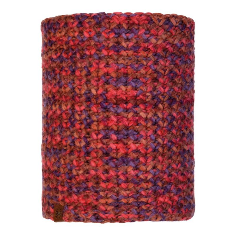 Шарф BUFF Buff Knitted&Polar Neckwarmer Margo темно-красный ONESIZE шарф buff buff cotton infinity wild pink stripes темно розовый one