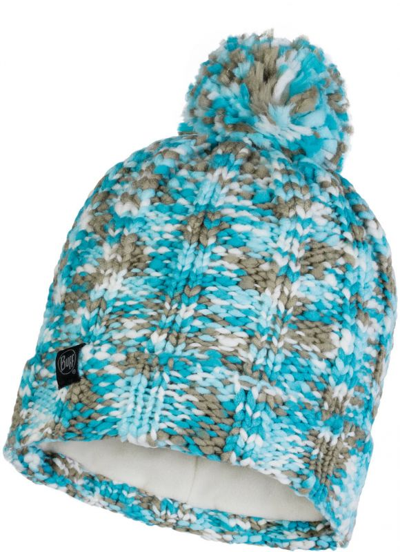 купить Шапка BUFF Buff Knitted&Polar Hat Livy голубой ONESIZE по цене 3190 рублей