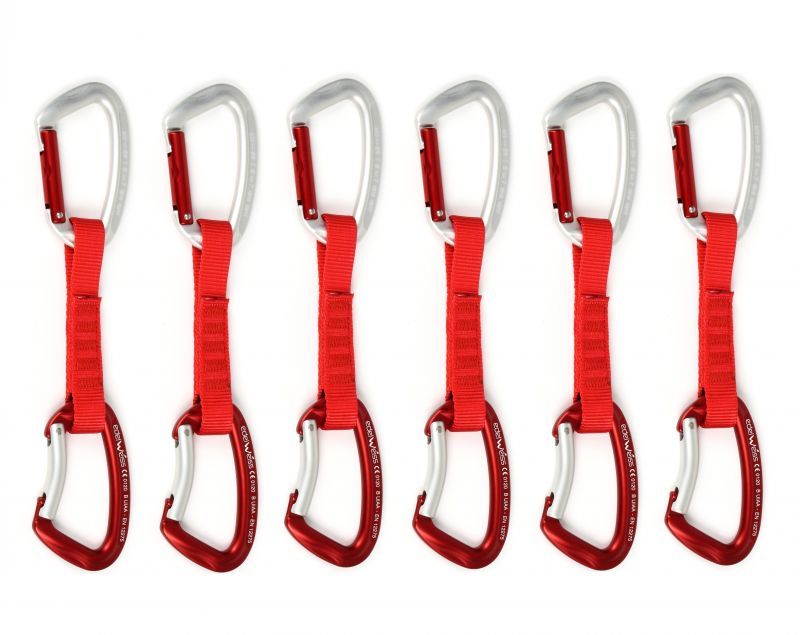 Набор оттяжек с карабинами Edelweiss Top Evo 12 cm Quickdraws 6 pcs set 6ШТ