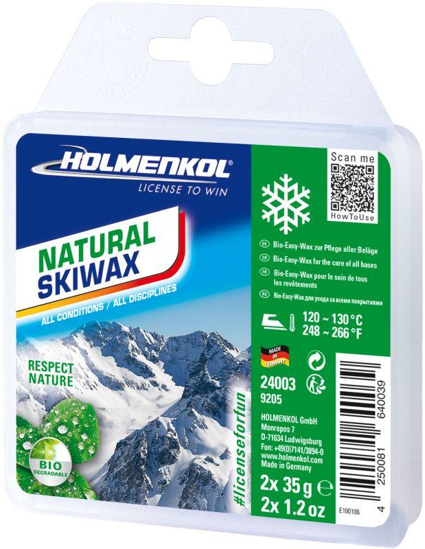 Мазь HOLMENKOL лыжная универсальная Holmenkol. Парафин - Natural Skiwax 2X35G мазь лыжная простая ray wg 5