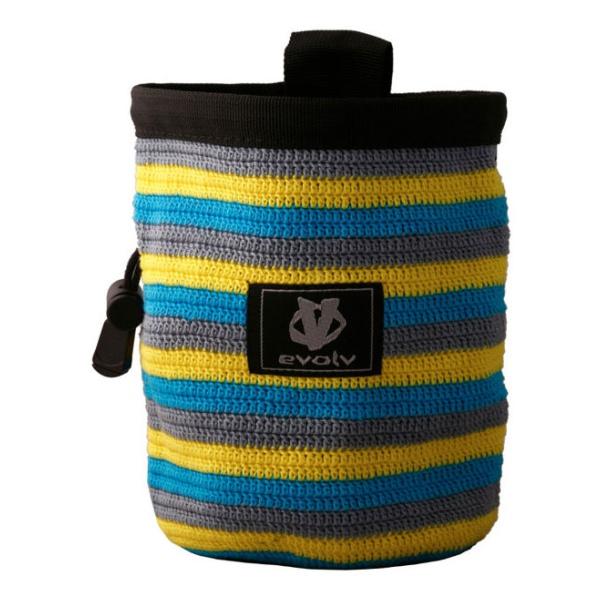 цена  Мешок для магнезии Evolv Evolv Mako Knit Chalk Bag разноцветный  онлайн в 2017 году