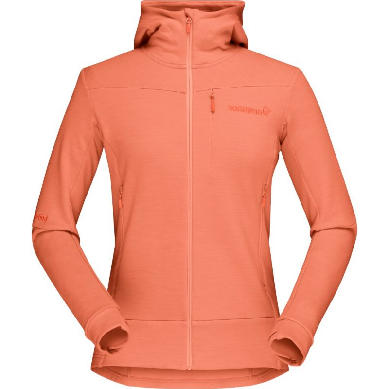 Купить Куртка Norrona Falketind Warmwool2 Stretch Zip Hood женская