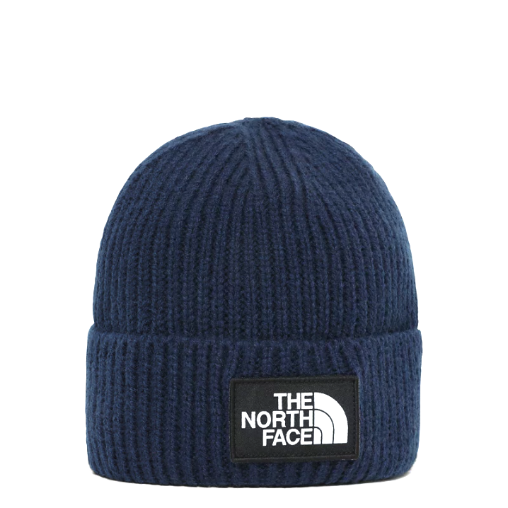 Фото - Шапка The North Face The North Face TNF Logo Box Cuffed синий ONE кепка the north face the north face tnf logo trucker one