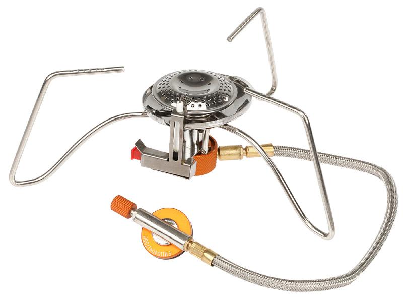 Горелка газовая Fire-Maple Fire-Maple FMS-104 пьезо со шлангом серый 235Г горелка fire maple fms 104 серебристый