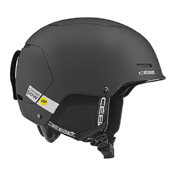 горнолыжный cebe шлем cebe contest visor ultimate mips темно серый 61 63 Горнолыжный шлем Cebe Cebe Pow Mips черный 56/58