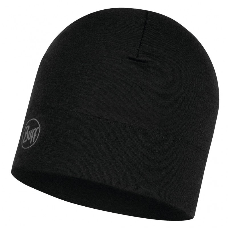 Шапка BUFF Buff Midweight Merino Wool Hat черный ONE