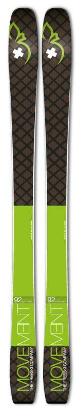 горнолыжные movement skis палки movement skis freeski 2 pcs poles серый 110 135 Горные лыжи Movement Skis Movement Skis Axess 92 Ski (21/22)
