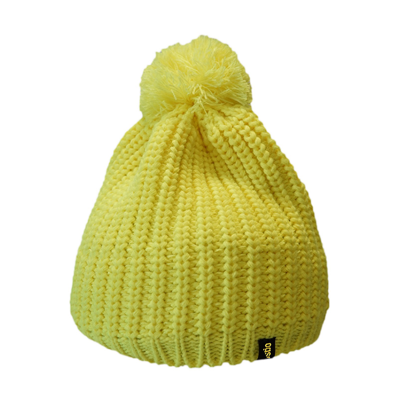 Шапка Ogso Yellow Pom Beanie желтый ONE