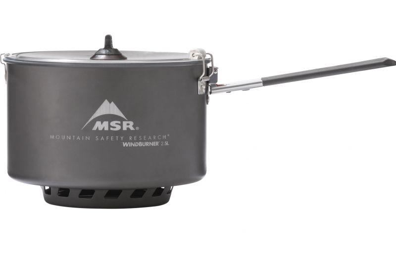 Кастрюля MSR MSR Windburner Sauce 2.5 L серый 2.5Л кастрюля msr msr windburner 1 8l синий 1 8л