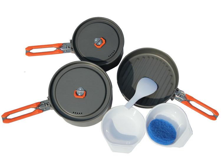 Купить Набор портативной посуды Fire-Maple Feast 3 из алюминия на 2-3 персоны