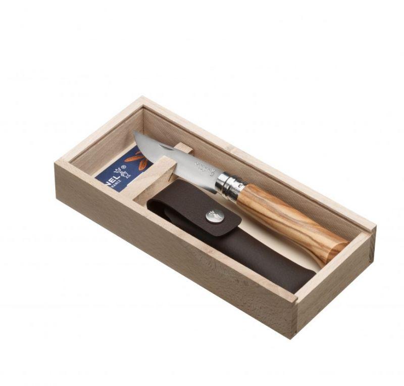 Купить Нож складной Opinel №8 VRI Classic Woods Traditions Olive в деревянном кейсе, с чехлом
