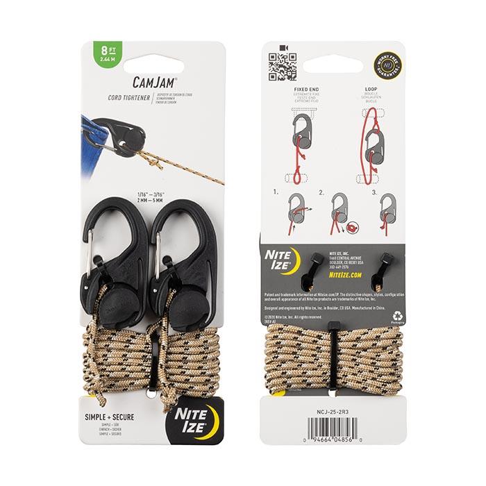 Купить Крепление для верёвки Nite Ize Camjam 2 шт. с верёвкой