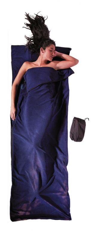 Спальник-одеяло Cocoon Cocoon TravelSheet Microfleece темно-синий 220X80CM спальник cocoon cocoon outdoor blanket черный 220x80cm