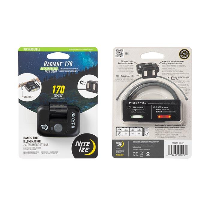 Купить Фонарь cветодиодный аккумуляторный Nite Ize Radiant 170 Rechargable Task Light
