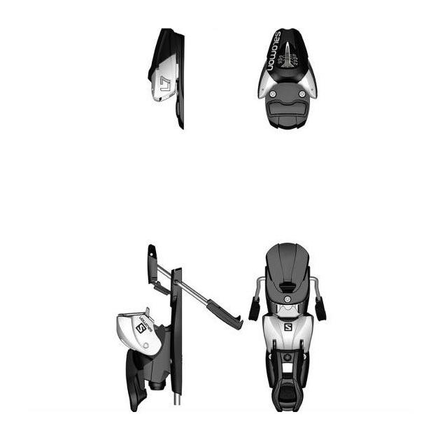 Горнолыжные крепления Salomon L7 черный 80