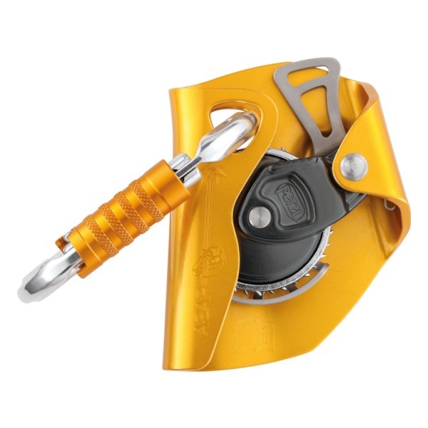 Мобильное страховочное устройство Petzl Asap оранжевый карабин с роликом petzl petzl rollclip z triact lock