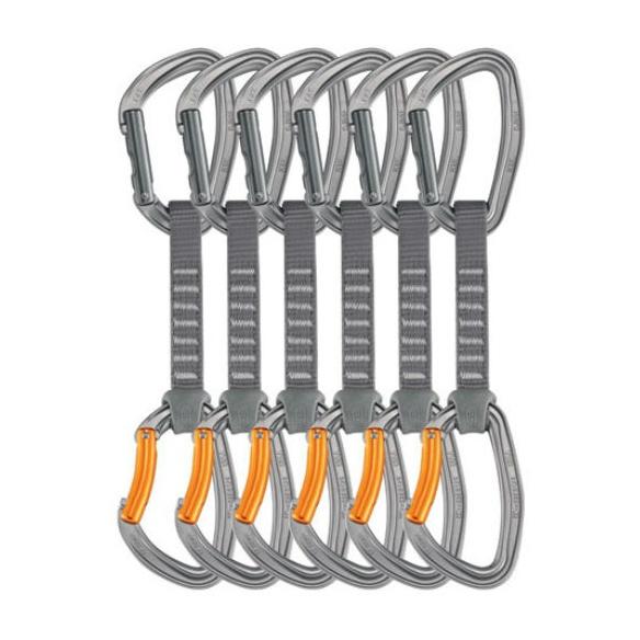 Набор из Petzl 6 комплектов (2 карабина Djinn + оттяжка) 12CM карабин petzl petzl djinn с гнутой защелкой