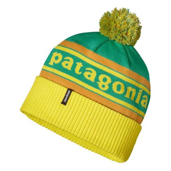 Шапка Patagonia Powder Town Beanie зеленый