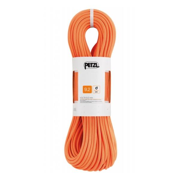 Веревка динамическая Petzl Petzl Volta 9,2 мм (бухта 70 м) оранжевый 70M веревка динамическая petzl petzl volta guide 9 мм бухта 30 м оранжевый 30m