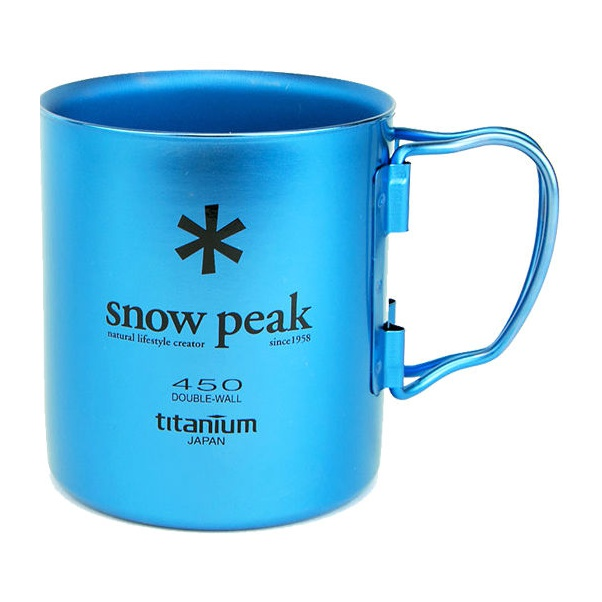 Кружка Snow Peak Титановая Ti-Double 450 синий 0.45л