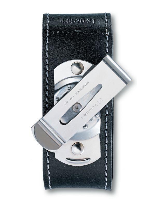 Чехол кожаный Victorinox 4.0520.31 Victorinox чехол victorinox для ножей 91 мм 5 8 уровней с отд для фонаря и точильного камня кожаный чёрный