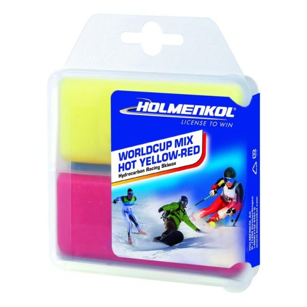 Парафин HOLMENKOL Worldcup Mix HOT 2x35 g желтый порошок ускоритель holmenkol hybrid wet 0 4