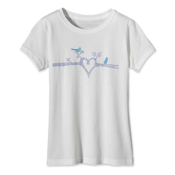 Футболка Patagonia Bird Heart для девочек