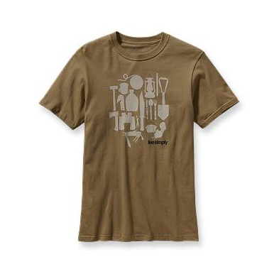 Patagonia Футболка Live Simply Camping T-Shirt купить в интернет-магазине, цена