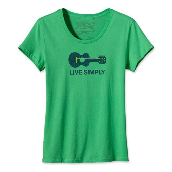 Футболка Patagonia Live Simply Guitar T-Shirt женская купить в интернет-магазине, цена