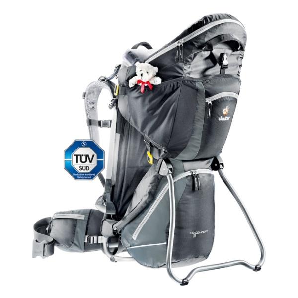 Рюкзак для переноски детей Deuter Kid Comfort III черный 18л рюкзак everhill cel16 pcu700c 18л