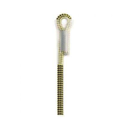 Веревка полустатическая Petzl Axis 11 мм с прошитыми концами желтый 10м