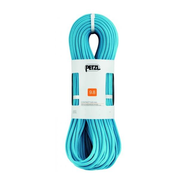 Веревка динамическая Petzl Petzl Contact 42956 мм (бухта 70 м) голубой 70M веревка динамическая beal beal 9 7 мм booster iii standard бухта 70 м