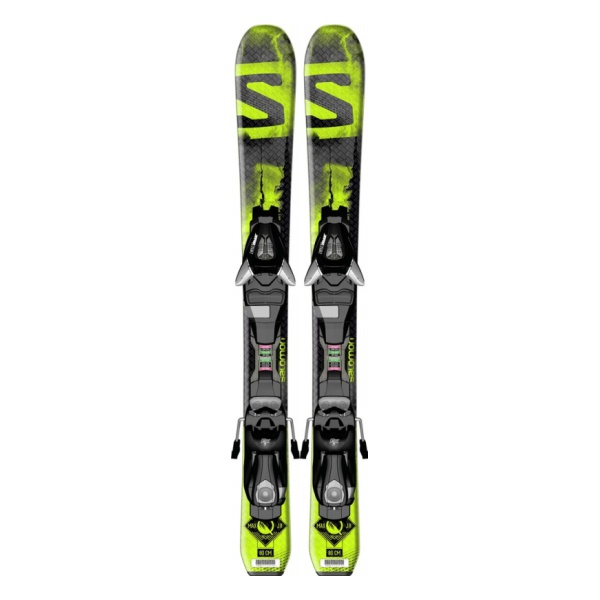 Горные лыжи Salomon Salomon Q-Max XS + Ezy5 J75 детские черный (15/16) rpha max evo metal black xs