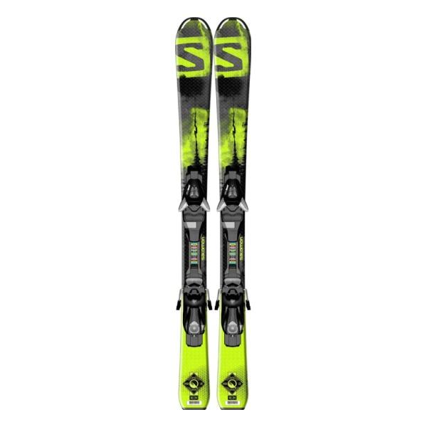 Горные лыжи Salomon Q-Max S + EZY5 J75 детские черный (15/16)