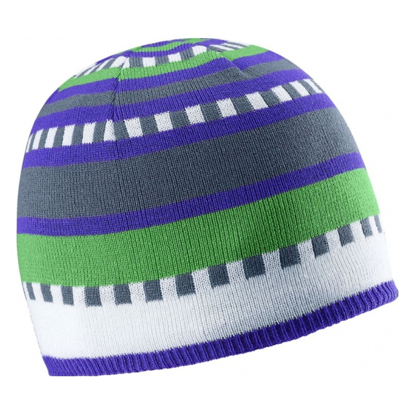 Шапка Salomon Salomon Junior Stripe Beanie детская синий шапки salomon шапка big fourax beanie