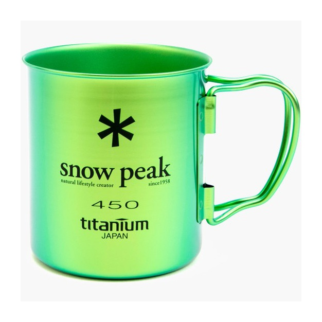 Кружка Snow Peak Snow Peak титановая Ti-Single 450 зеленый 0.45л